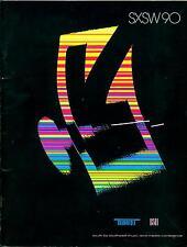 Program Guide SXSW 1990 Film Music Festival Austin Texas Schedules Photos More!