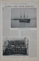 1901 Imprimé Marins Cadets De The Conway ~ École Vaisseau Entraînement Marchande