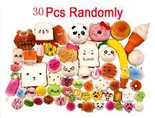 30Pcs Squishy Soft Panda/Bread/Cake/Buns Jumbo Medium Mini Random Phone Straps
