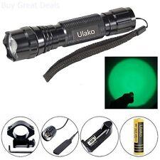Ulako Green light Led Coyote Hog Pig Varmint Predator Hunting Light Flashlight