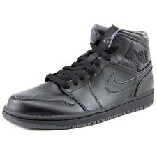 Nike Air Jordan 1 Mid Black Grey Mens Basketball Shoes SNEAKERS Aj1 554724-021 9.5