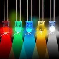 10-100pcs 5mm Tondo 2pin Ultra Luminoso Trasparente LED Lampada Emittenti Diodo