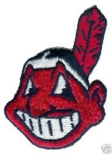 "CLEVELAND INDIANS MLB BASEBALL 3"" CHIEF WAHOO TEAM LOGO PATCH"