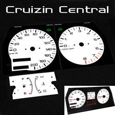Plastic WHITE DIALS Ford Laser Turbo KC KE TX3 Mazda 323 gauge dash tacho speedo