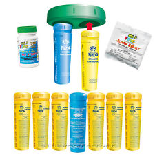 Spa Frog Bundle - 6-Bromine, 1-Mineral, Floating System, Jump Start & Test Kit