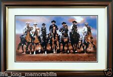 THE MAGNIFICENT SEVEN WESTERN MOVIE PICTURE FRAMED COLLECTOR'S ITEM