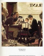 Norman Rockwell Saturday Evening Post SAYING GRACE