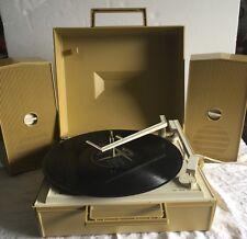 1968 RCA PORTABLE GoldTurntable/phonograph Speaker System Model VLP34H working