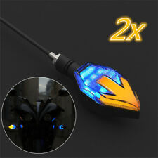 2x 12V LED Arrow ATV Scooter Turn Signal Indicator Direction Light w/ Blue DRL