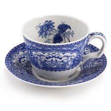 Spode Blue Room Floral Demitasse Coffee Teacup Tea Cup & Saucer Set Blueroom NIB