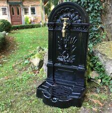 Gartenbrunnen Schlange, Zapfstelle Antik Brunnen, Brunnen, Standbrunnen schwarz