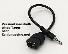 AUX Audio Stecker male 3.5 mm Klinke auf USB Buchse Adapter A Kabel Auto KFZ