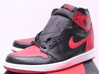 Air Jordan Retro 1 Bred Banned Black Red Sneakers Men's 7.5-14 2016 555088-001
