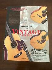 1997 PRINT Ad FOR MARTIN GUITARS THE VINTAGE SERIES HD-28VS, D-18VM, OM-28VR
