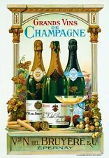 VINTAGE ART PRINT - DE CHAMPAGNE - Arnold Eyckermans 20x28 Restaurant Bar Poster