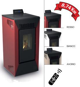 Poêle à granulés de bois ou pellets air ventilé Courmayeur 8,74kw pour chauffage