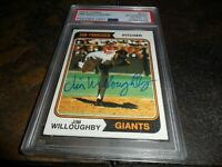 1974 Topps #553 Jim Willoughby Signed SAN FRANCISCO GIANTS AUTO 10 PSA/DNA