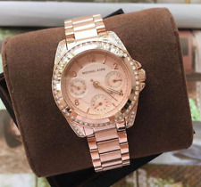 Michael Kors Mini Blair Chronograph Rosegold-tone Watch MK5613