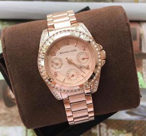 Michael Kors Mini Blair Chronograph Rosegold-tone Watch MK5613