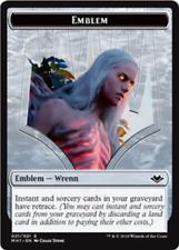 Wrenn and Six Emblem // Goblin Token MTG Modern Horizons Planeswalker