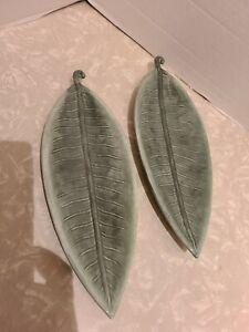 Interior Designs Ceramic Trinket/Candy/Soap Leaf Dish Set Of 2 ***READ***