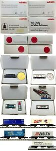 MARKLIN Z SCALE M/M S045-S048-S053-S055 4 Different COLLECTOR Cars Orig Boxes C9