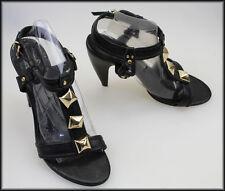 Leather Open Toe Medium (B, M) Geometric Heels for Women