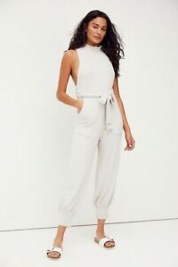 NWT FREE PEOPLE Sz XS NIGHT DREAMER ONE PIECE HIGH NECK BELTED SWEATER JUMPSUIT