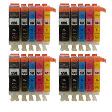 20 Ink Cartridges for Canon IP7250 IP8750 IX6850 MG5450 MG5550 MG5650 T