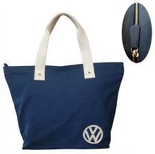 Official VW Canvas Ladies Shopping Tote Bag - Blue