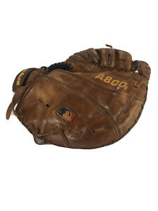 "Wilson A800 11.5"" Catchers Mit Soft Fit Brown Leather Broken In Left Hand Throw"
