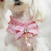 Dog Collar Puppy Cat Lace Necklace Pendant Princess Neck Strap Cute Accessories
