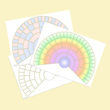 Blank Family Tree Fan Chart - choice of styles - A3 pack of 4 Rolled in tube