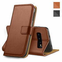 For Samsung Galaxy S10+ Plus Leather Flip Wallet Brown Case Magnetic Phone Cover