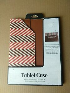 Tailored Leather Tablet Case Fits up to 10.1 Protective Carrier Brown. #1003