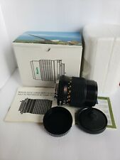 Minolta Celtic 135mm f/3.5 MD Lens boxed with paperwork perfect
