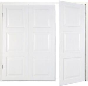 New Side hinged Garage Door Georgian 7ft wide x 6'6'' high White Small door Left