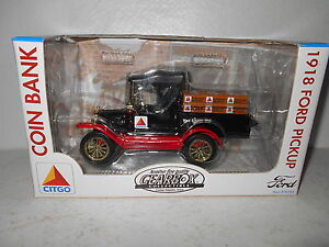 Gearbox 1918 Ford Pickup Coin Bank - Citgo -  New in Box
