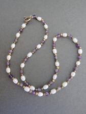 Vintage Amethyst Pearl Necklace