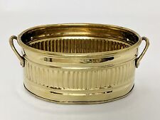 Brass Oval Planter Container Handles Silk or Fresh Flowers Greenery Plants