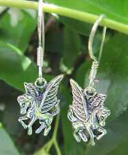 Earring Pegasus Winged Horse Fairy Tale Fantasy Sterling Silver 925
