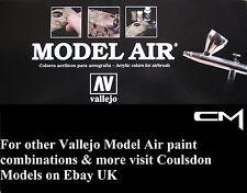 Vallejo Modelo Air Gama Completa 144 X 17ml Colores Acrílico Aerógrafo Listo
