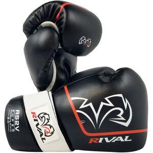 Rival Boxing RS2V 2.0 Super Pro Hook and Loop Sparring Gloves - Black