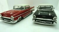 (2 Color choices)1957 Chevy Bel Air Die-cast Car 1:24 Jada Big Time Muscle