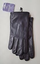 Grandoe Men's Leather Sensor Touch Gloves, Black, L
