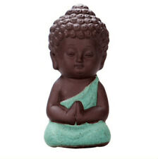 🇹🇭 Small Buddha Monk Figurine Pottery. Giftware.