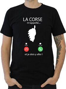 T-SHIRT HOMME LA CORSE M'APPELLE...