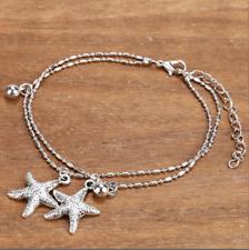 Bracelet de cheville argent étoile de mer