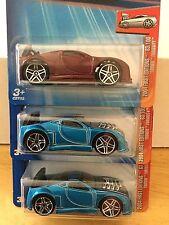 2004 Hot Wheels VARIATION Lot of 3 FURIOSITY Kmart Exclusive Color & CASTING 063