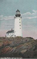 Vintage Postcard>1907-1915>Casco Bay>Half-way Rock Light House>Maine